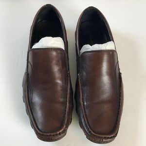 Kenneth Cole New York Leather Brown Slip on Shoes